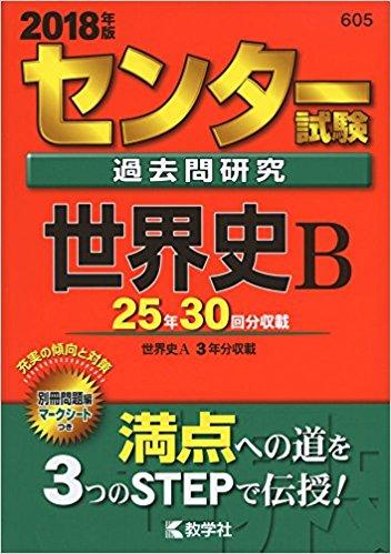 世界史のおすすめ参考書・問題集『センター試験過去問研究 世界史B』