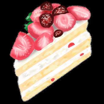 勉強中に食べてはいけない甘いものの例『ケーキ』