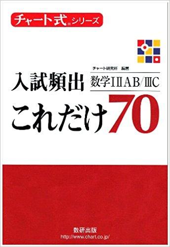 数学のおすすめ参考書・問題集『チャート式入試頻出70』