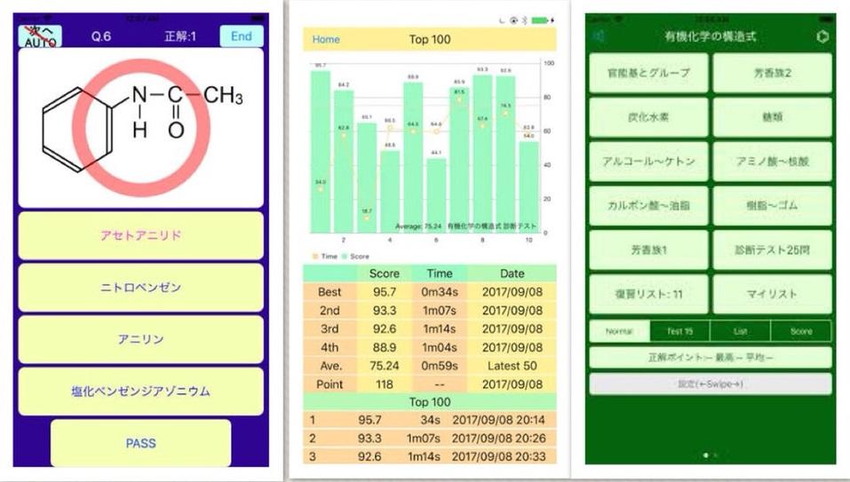 化学の勉強に役立つおすすめアプリ『有機化学の構造式-Organic Chemistry- 化学』