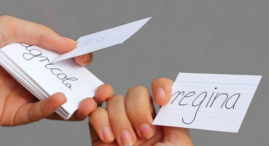 単語カードを作る上でのポイント「単語カードは定期的に入れ替える」