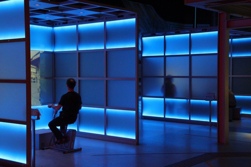集中できる青色の部屋