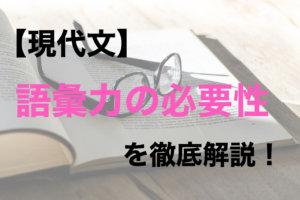 【語彙力の必要性】大学受験の現代文は語彙力がないと落ちる!?